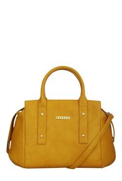 Caprese Rosa Ochre Solid Bowlers Shoulder Bag - Mp000000001408906