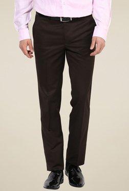 Turtle Dark Brown Slim Fit Trousers
