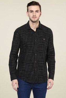 Turtle Black Full Sleeves Slim Fit Shirt
