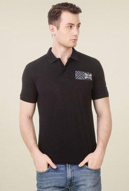 Spunk Black Regular Fit Polo T-Shirt