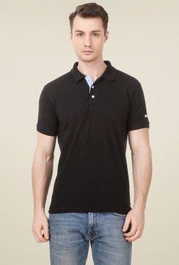 Spunk Black Half Sleeves Polo T-Shirt