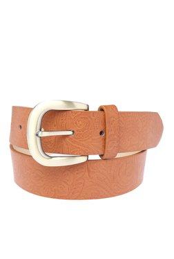 Vero Moda Lilbeth Cognac Textured Belt
