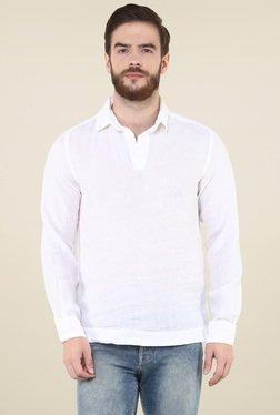 37b5f11a6eb celio  White Full Sleeves Linen Shirt