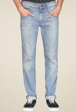 Levi's Light Blue Slim Fit Heavily Washed Jeans