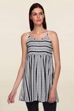 Mineral Black & White Striped Top