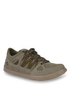 Woodland Grey & Olive Casual Shoes