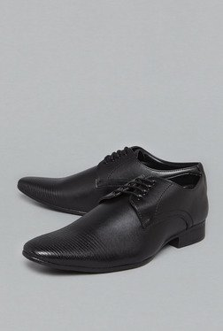 Azzurro by Westside Black Derby Shoes