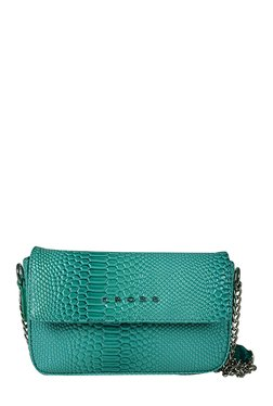 Cross Merida Sea Green Textured Sling Bag