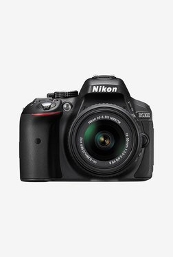 Nikon D5300 (AF-P 18-55 mm VR Lens) DSLR Camera 16GB Card + Camera Bag (Black)