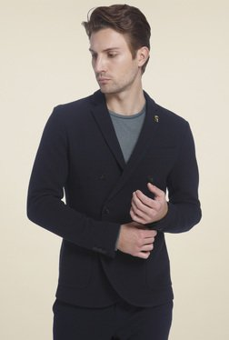 Jack & Jones Navy Slim Fit Full Sleeves Blazer