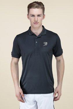 Delhi Daredevils Black Regular Fit Polo T-Shirt