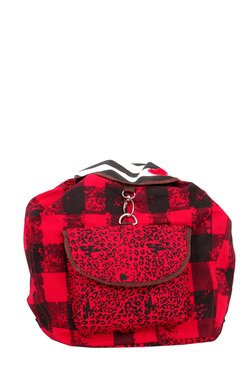 Pick Pocket Red Checkered Canvas Backpack