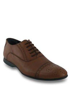 Salt 'n' Pepper Zindabad Almond Oxford Shoes