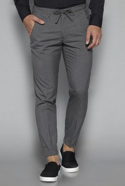 Weststreet by Westside Grey Slim Fit Formal Joggers