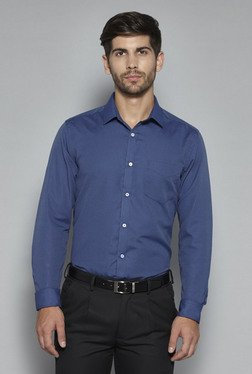 Weststreet by Westside Navy Slim Fit Shirt
