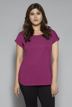 Gia By Westside Magenta Pure Cotton Top