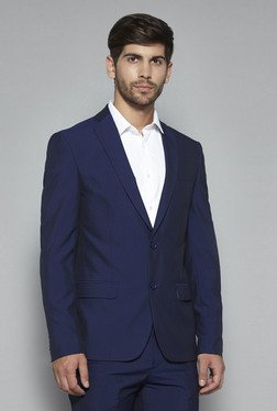 Weststreet by Westside Ink Blue Slim Fit Blazer