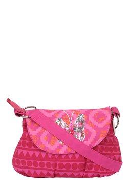 Pick Pocket Pink Embellished Canvas Sling Bag