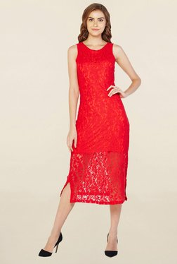 AND Red Lace Dress