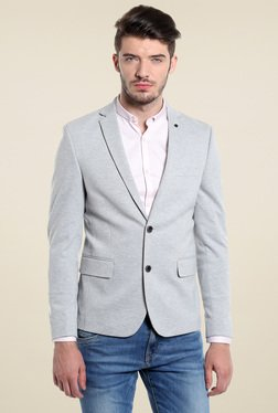 Jack & Jones Grey Slim Fit Blazer