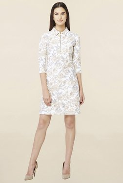 AND Off White Floral Print Shift Dress