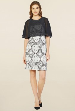 AND Grey Printed Shift Dress - Mp000000001436312