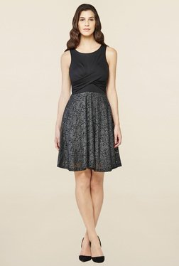 AND Black Lace Skater Dress