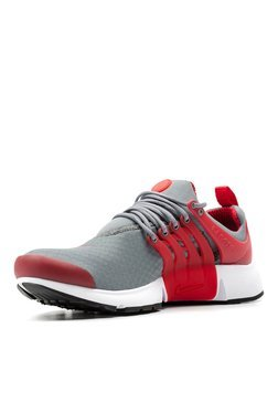 Nike Air Presto Cool Grey & Gym Red Running Shoes