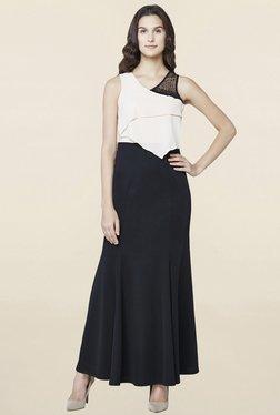 AND Black & Off White Embellished Dress