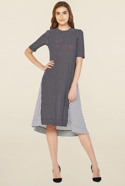 AND Black Polka Dot Trapeze Dress