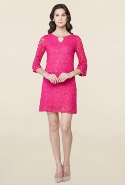 AND Pink Lace Shift Dress