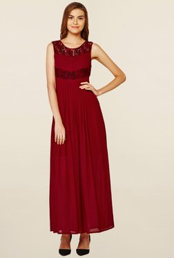 AND Burgundy Lace Dress