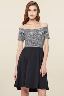 AND Grey Textured Dress