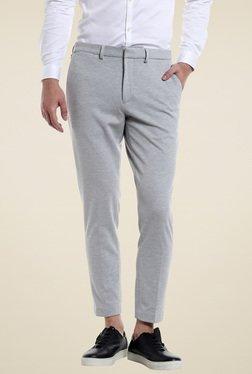 Jack & Jones Light Grey Slim Fit Trousers
