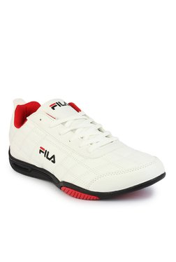 Fila Sterling II White & Red Training Shoes