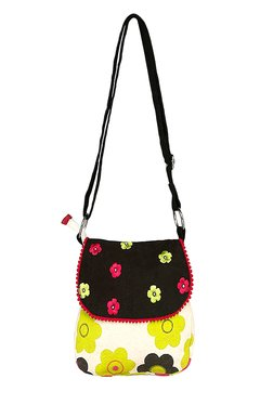 Pick Pocket Multicolor Floral Embroidered Sling Bag