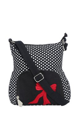 Pick Pocket Black Polka Dots Sling Bag