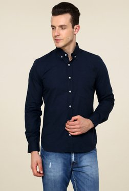 Rigo Navy Slim Fit Shirt
