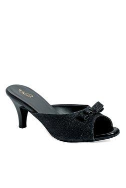 b9c508051bd09 La Briza Black Mule Sandals