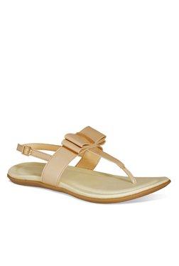 ff811ce13b151 La Briza Cream T-Strap Sandals