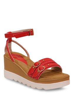 f65b761099cb7 La Briza Red Moccasins for women - Get stylish shoes for Every Women ...
