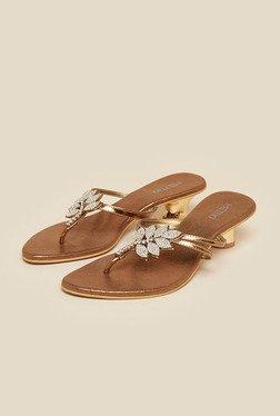 Metro Antique Gold Leaf Design Sandals - Mp000000001450361