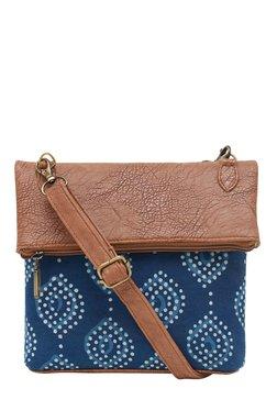 Tarusa Blue Printed Fabric Sling Bag