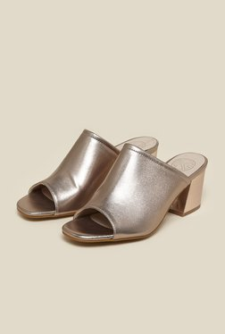 Kurt Geiger Golden Mule Sandals