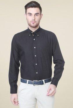 Allen Solly Black Button Down Collar Shirt