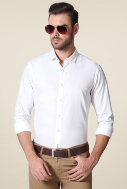 Allen Solly White Full Sleeves Shirt