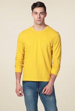 Allen Solly Yellow Crew Neck T-Shirt