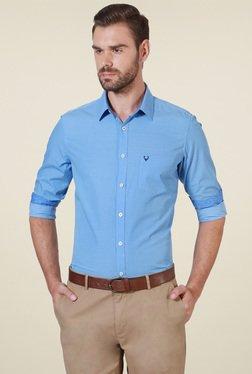 Allen Solly Sky Blue Regular Fit Printed Shirt