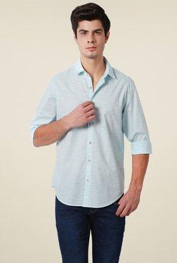 Peter England Light Blue Cotton Full Sleeves Shirt