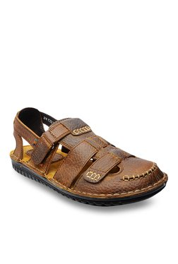 Buckaroo Dario Dark Tan Ankle Strap Sandal